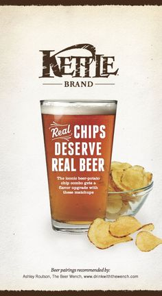 Real Chips Deserve Real Beer - The Kettle Chips Beer Pairing Guide.