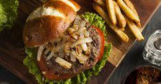 Woodview Wagyu Burger — Jackie Cameron School of Food & Wine Wagyu Burger, Beef Burgers, Wagyu Beef, Wine Recipes, Hamburger, Fries, Rolls, Cooking, School