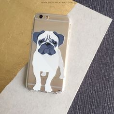 Clear TPU Case Cover - Pug – Milkyway