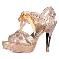 De las mujeres del talón de estilete arnés de vuelta sandalias con zapatos de cordones (más colores) – USD $ 34.99