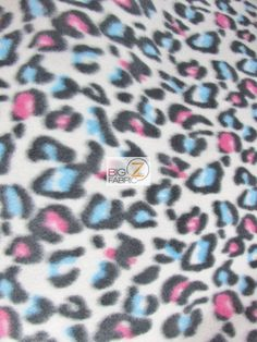 Red/Blue/White Leopard Print Polar Fleece Fabric Width Sold By The Yard White Leopard, Red White Blue, Polar Fleece, Fleece Fabric, Guinea Pigs, Diy Crafts, Sewing, Etsy, Inspiration