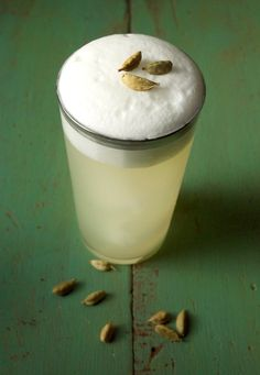 Coconut Cardamom Foam Cocktail: Break out the whipped cream canister!
