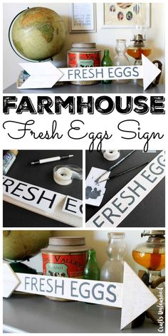 Make this DIY Farmhouse fresh eggs sign for your home in just minutes!