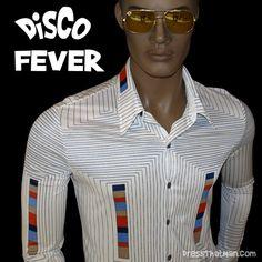 70's Vintage Disco Shirt - Genuine 1970's mens fashion!