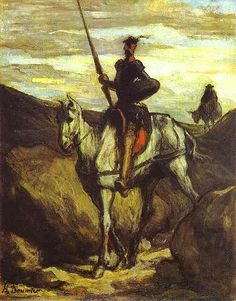 Daumier, Honore (1808-1879) - 1849-50 Don Quixote and Sancho Panza (Bridgestone Museum, Tokyo, Japan) | by RasMarley