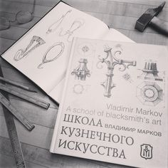 Ideas come from everywhere, but some of the recent hooks where inspired by the techniques in this Russian book I found when traveling in Europe last year. Great part is its in 2 languages. @dirtysmith and @apbrightyblacksmith were asking about the...
