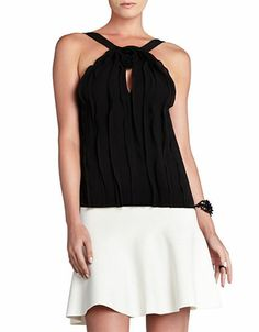 Women's Apparel | Tops | Malena Ruffle Sleeveless Top | Lord and Taylor
