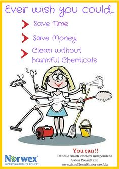 Norwex makes cleaning so easy, fast and better for your health!