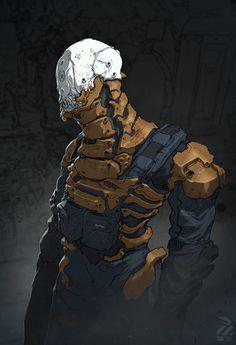 ArtStation - Dude., by Nivanh Chanthara Futuristic Art, Cyberpunk Art, Aliens, Character Concept, Concept Art, Character Art, Character Design, Cyborgs, Science Fiction