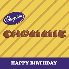 Congrats Chommie birthday card for Kinky Rhino Greeting Cards in South Africa