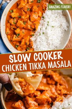 Five Approaches To Economize Transforming Your Kitchen Area This Slow Cooker Chicken Tikka Masala Is The Easy Homemade Version Of Your Indian Food-Loving Dreams Bold And Flavorful, Yet With A Fraction Of The Work Slow Cooker Tikka Masala, Poulet Tikka Masala, Easy Chicken Tikka Masala, Crockpot Indian Recipes, Easy Indian Recipes, Mexican Food Recipes, Indian Chicken Recipes, Thai Recipes, Asian Recipes