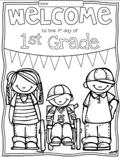 Free Welcome to Any Grade {Pre-K through 6th Grade} Colori