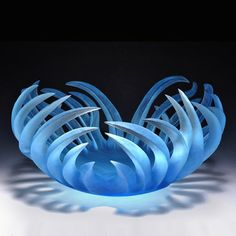 """Paul Schwieder - """"Copper Blue Nest"""" - Pismo Fine Art Glass, Denver, Aspen and Vail, Colorado."""