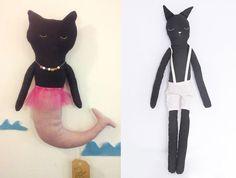 Black cat dolls