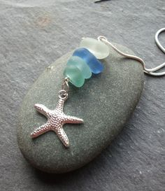 SALE Sea Glass Cairn and Starfish Necklace by byNaturesDesign, $12.00