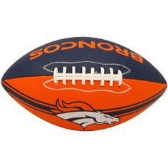 NFL Denver Broncos Tailgater Football by The Licensed Products Company. $17.99. Junior Size Playable Football. Designed With Team Colors and Primary Logo. Stitched Rubber Material For Ease In Throwing & Catching. Packaged With Black Kicking Tee. NFL Denver Broncos Tailgater Football