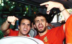 Cesc Fàbregas & Gerard Piqué