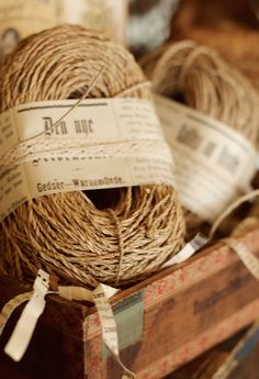 Bundle of twine by FleaMarketChick on Etsy
