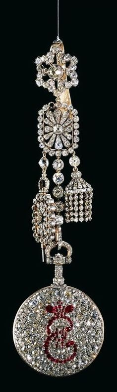 Pendant Watch with Cipher of Catherine II, D.T. Mussard, 1786-1796
