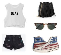"""""""Untitled #9208"""" by andreeascafariu ❤ liked on Polyvore featuring Zara, Converse, Ray-Ban and Whistles"""