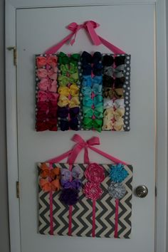 Our little Hadley girl hasacquired quite a bow collection. We started by putting her bows in baskets, but they had become so full and clutt...