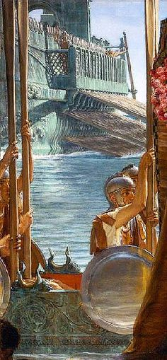 La temible y poderosa flota romana...