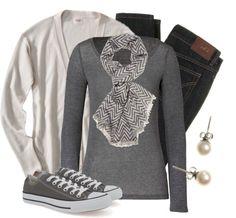 """""""Casual Chevron"""" by qtpiekelso on Polyvore -- Yep, pretty much sums up my casual style."""