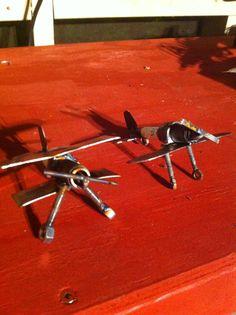 Planes #scrap metal art #blacksheep
