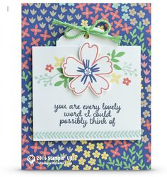 CARD: You are Lovely from Love and Affection | Stampin Up Demonstrator - Tami White - Stamp With Tami Crafting and Card-Making Stampin Up blog