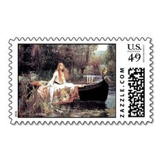 All Occasion Waterhouse The Lady of Shallot Stamp