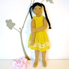 Japanese knitted doll for Japan