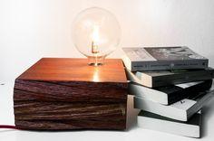 Padouk wooden lamp mod. Belmonte 007  table lamp by TelltaleDesign, €240.00