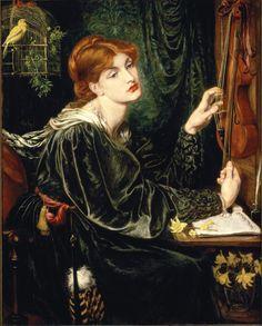 """""""Veronica Veronese,"""" by Dante Gabriel Rossetti, Delaware Art Museum, Pre-Rephaelite"""
