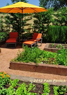 Welcoming and colorful vegetable garden