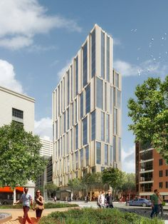 Höweler + Yoon and Sasaki have announced the groundbreaking for new construction on 212 Stuart Street, in the historic Bay Village neighborhood in Boston. Boston Architecture, Architecture Details, Commercial Architecture, Building Architecture, Downtown Boston, In Boston, Precast Concrete Panels, Bay Village, Street Trees