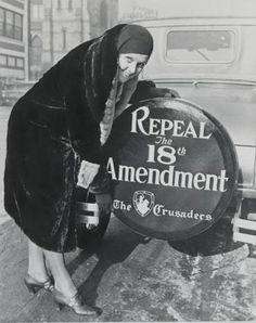 """Prohibition helped put the roar into the Roaring '20s: speakeasies, hip flasks, bootleggers, bathtub gin, Al Capone."""