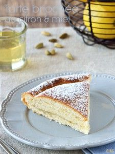 tarte briochée au citron et miel