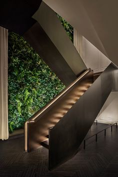 """Yabu Pushelberg designs The Times Square Edition as """"ultimate counterpoint to its surroundings"""" - Dr Wong - Emporium of Tings. Staircase Interior Design, Luxury Staircase, Home Stairs Design, Modern Staircase, House Design, Staircase Metal, Contemporary Stairs, Stair Design, Interior Architecture"""