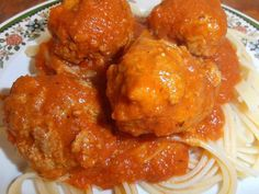 Meatballs with Pasta Sauce   For the Sauce:   3 carrots, peeled and cut into big chunks  1 large onion, peeled and chopped 5 cloves garlic, chopped 2 C. chicken broth 28 oz. diced tomatoes, with juice 1 tsp. basil 1 tsp. oregano 1/2 tsp. thyme 1 T. brown sugar 1/2 tsp. salt 1/4 tsp. black pepper good pinch of cayenne pepper (optional) olive oil  In a large stock pot, add about 2 T. olive oil to the pot and heat over medium high heat.  Add in the chunks of carrots and the onion and cook for…