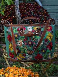 Perfect for overnight trips and weekend outings, our Embroidered Carpet Bags feature stunning South American designs. So beautiful! All are made of hand-woven cotton fabric, trimmed with sueded leatherette and fitted with a comfortable shoulder strap. Each piece differs slightly in appearance according to the artisan.