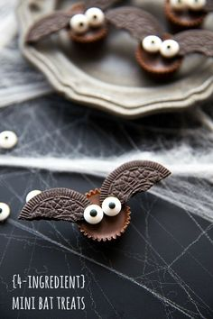 Mini Bat Treats for Halloween