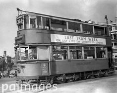 A tram at Victoria Embankment during the last week of London Trams - 30th June 1952
