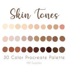 Skin Color Palette, Palette Art, Skin Colors, Ipad Art, Digital Art Tutorial, Color Swatches, Color Theory, Colour Schemes, Color Inspiration