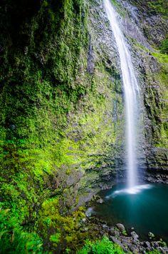 Hanakapi'ai Falls, Kauai Swam there after hiking.    Oct 2014