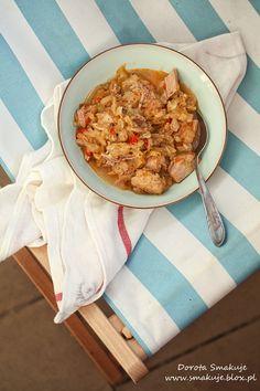Kapusta z polędwiczkami wieprzowymi, papryką, cukinią i pomidorami Paleo, Cooking, Recipes, Food, Kitchen, Recipies, Essen, Beach Wrap, Meals