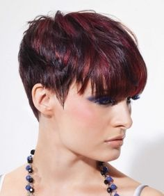 Pixie Dark Red Hair With Highlights Google Search