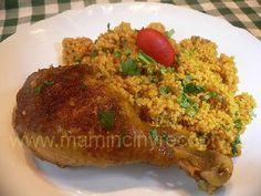 Kuře v citronovém kuskusu Baked Potato, Grains, Rice, Potatoes, Baking, Ethnic Recipes, Food, Lemon, Potato