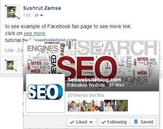 Facebook page on see more link