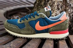 must. have. now. Nike Air Vortex VNTG | Blue, Squadron Green & Total Crimson
