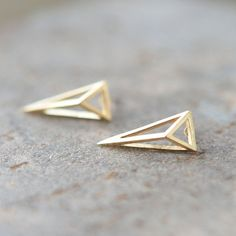 3D Triangle Earrings on Etsy, $16.89 CAD